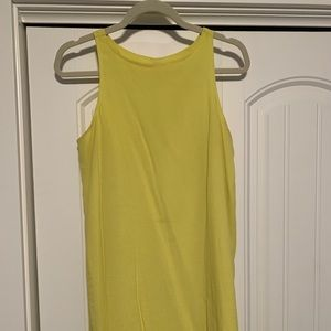 Bright yellow mini dress